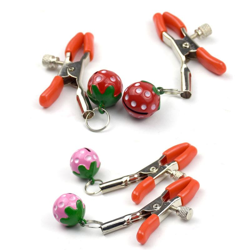 New Design Adult Products Strawberry Nipple Clamps for Female S