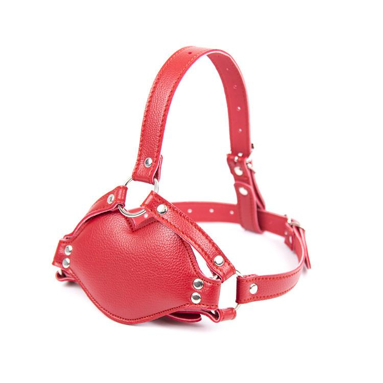 Top quality red pink Big leather gag ball fo
