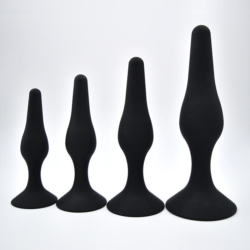 4 Sets Middle Size Silicon Butt Plug Anal Plugs f