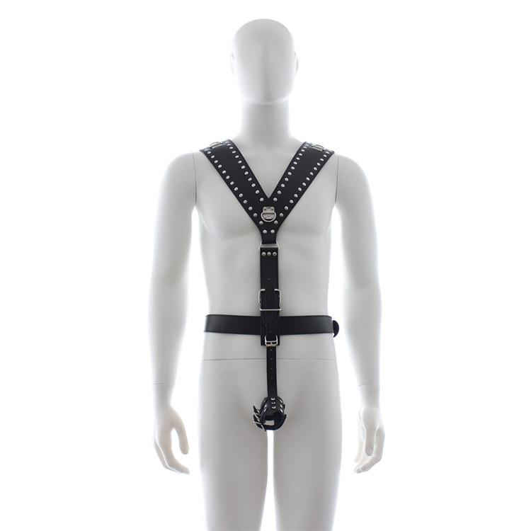 Customized Dimension Leather Materials Body Harness for M