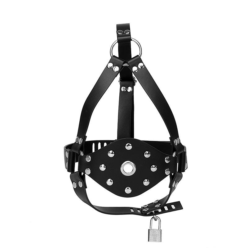 Wholesale Hottest Real Leather Open Mouth Gags for Expa