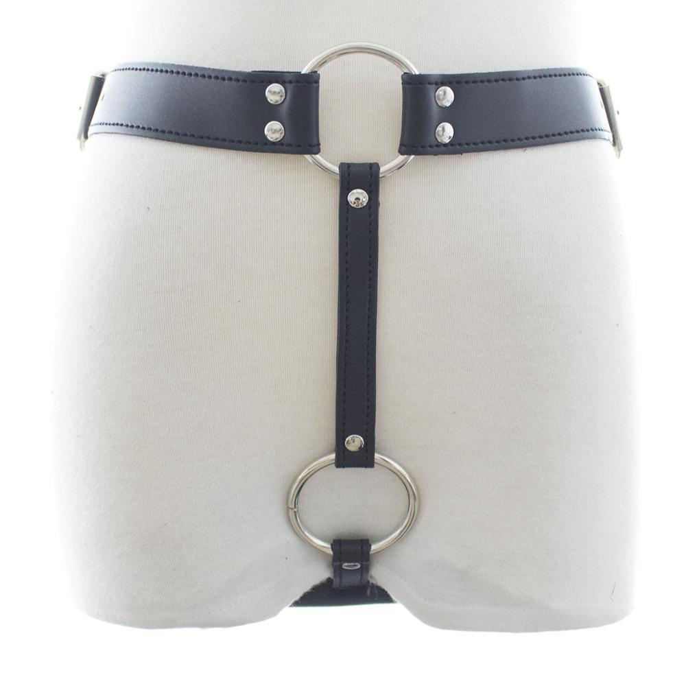 Adult Couples Sex Toy Leather Pants Underwear fo