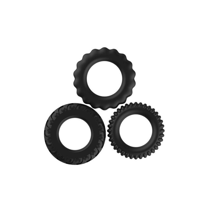 Penis Ring Sex Toys Male Lock Ring Liquid Silicone Double Delay Ring 4 P