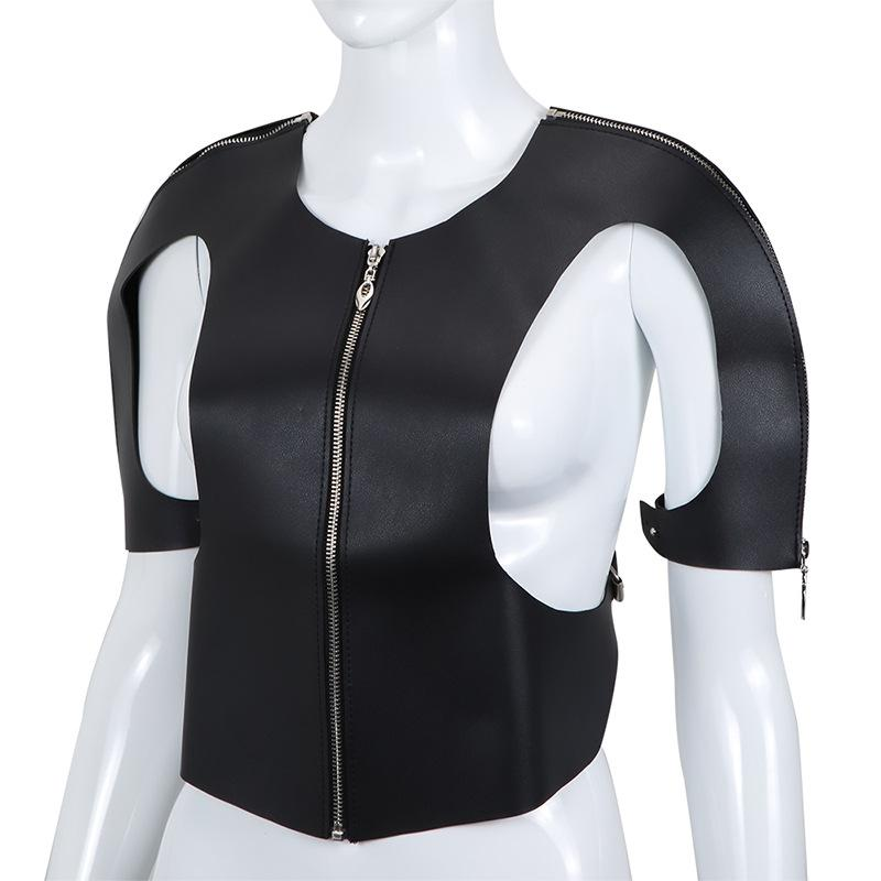PU Leather Fancy Straight Jacket for Women SM S&M Body Harness Fetish Sex Toy for Cosplay Bond