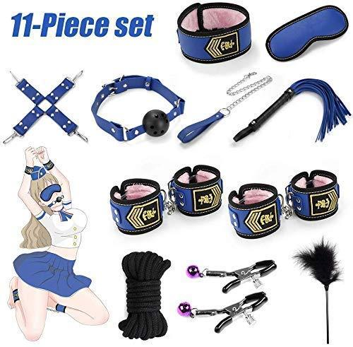Amazon Hot Sells Sex BDSM Bondage Restrictions Body Set Leather Handcuff Sex Toy For Coup