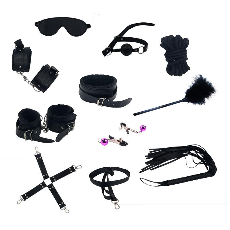 Sex Sets Leather Harness Sexy Handcuffs Toys 11