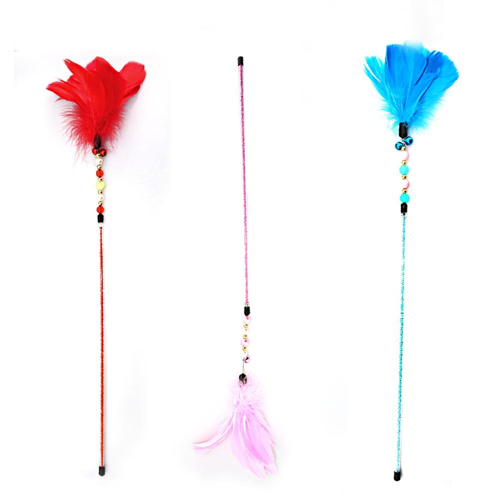 SM Sex Toys Feather Tickler Tease Rods Novelty Paddle Lorraine Feather Flirting with
