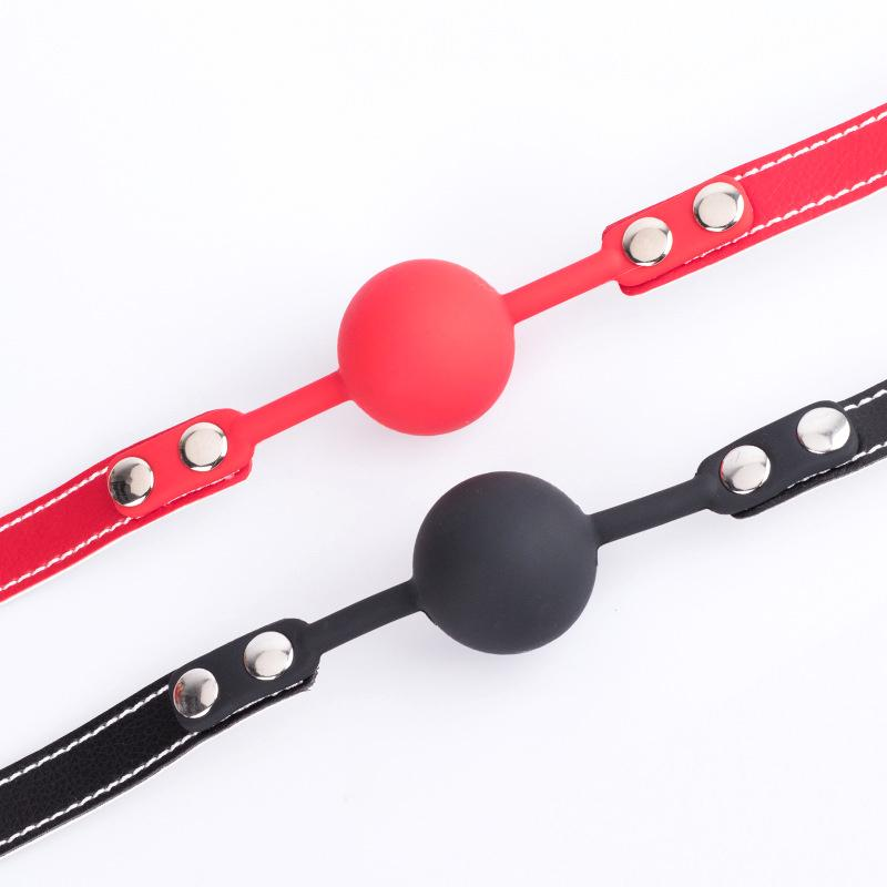 New Style Leather Mouth Gags Silicon Ball Gags for S