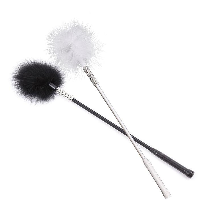 Health Care Products Feather Teaser with Diamond Passion Black and White Color Love Men's a