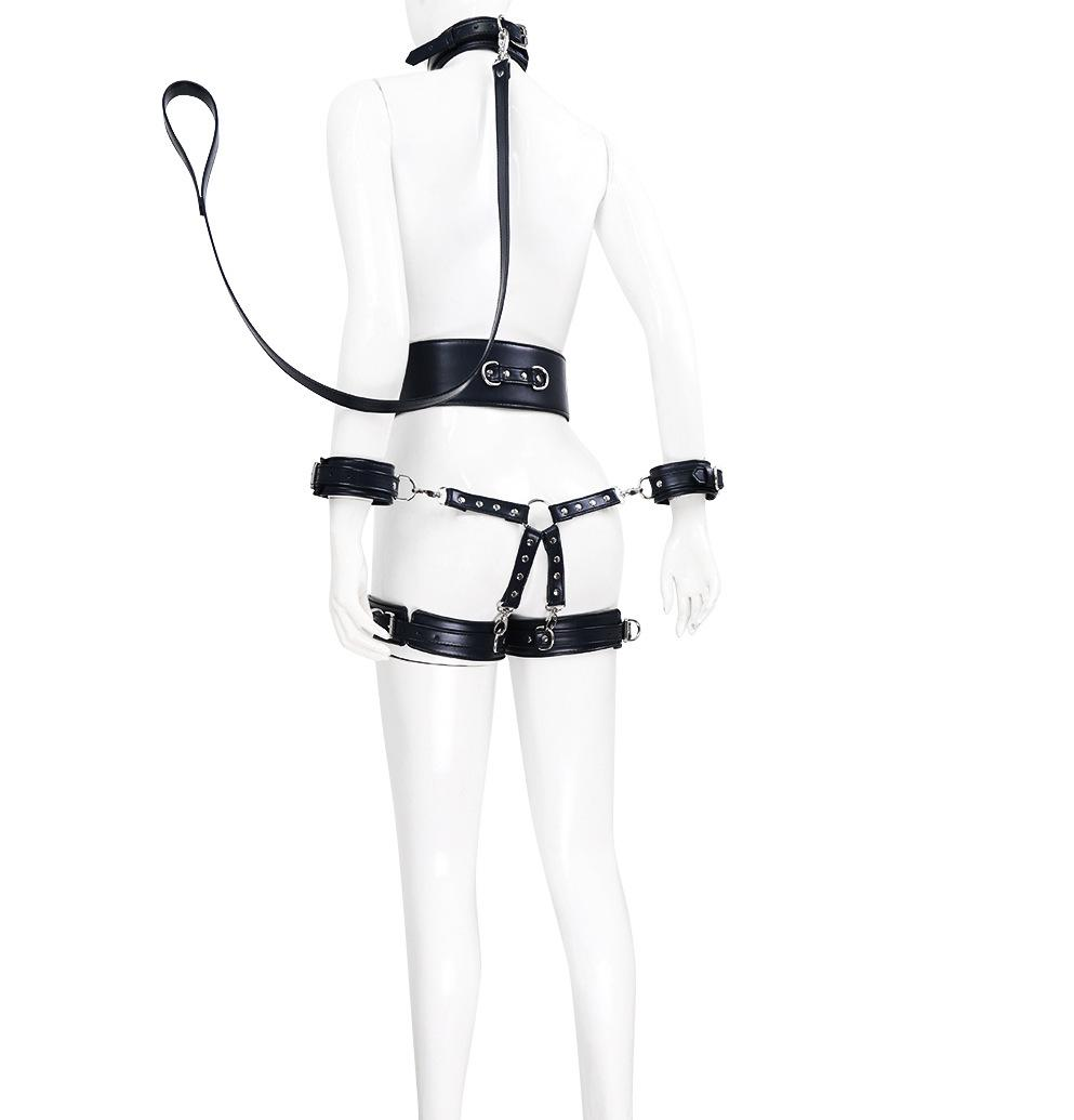 Top Quality BDSM Leather Bondage Restrictions Body Sex Toy For Couple SM