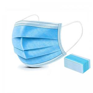 wholesale Factory Price Disposable Three-layer Protective Blue Face Mask