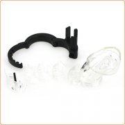 Adjustable Male Cock Cuff Chastity Device - Clear