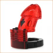 Adjustable Male Cock Cuff Chastity Device - Red