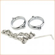 Allen Screw Chain Metal Ankle Cuffs
