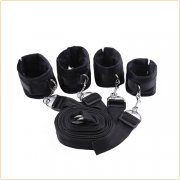 Bed Bindings Restraint Kit With  Blindfold