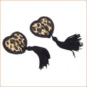 Black Tassel Leopard Pasties Nipple Covers