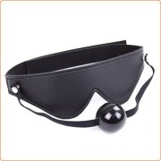 Blindfold With Ball Gag  - Velcro Strap