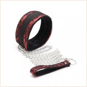 Bondage Embossed Cuffs With Collar Kit