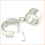 Bondage Stainless Steel Handcuffs For Male And Female
