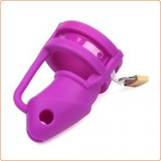 Chastity Cage Silicone Birdlocked - Purple