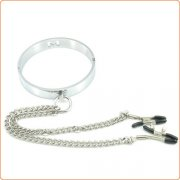 Chrome M Hole Collar with Nipple Clamps