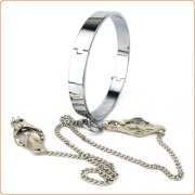 Chrome Slave Collar With Japanese Clover Clamps