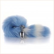 Colorful Fox Tail Metal Butt Plug