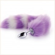 Colorful Fox Tail Steel Anal Plug