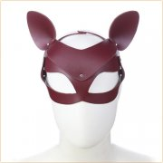 Cowhide Cat Mask