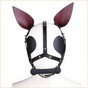 Dog Hoods With Bit Gag