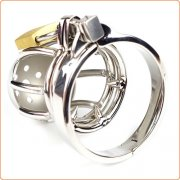 Double Ball Ring Chastity Cock Cage