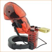 Electro Sex Chastity Device - Red