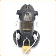 Electro-Sex Locking Cock Cage Chastity - Black