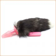 Faux Fur Fox Tail Vibration Jelly Butt Plug