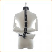 Faux Leather Neck To Wrist Restraint With Belt