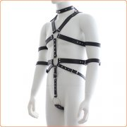 Fetish Full Body Harness With Double Cuffs