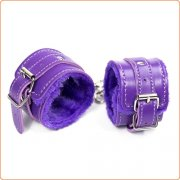 Fur Lined Purple Handcuffs