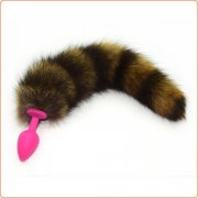 Geisha Ball Silicone Butt Plug With Fox Tail