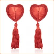 Heart Breaker  Lace Nipple Pasties With Tassels