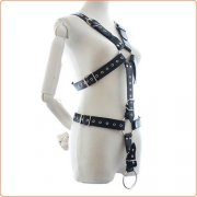 Leather Full Body Harness with Cock Ring
