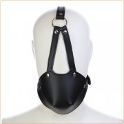 Leather Harness With Rubber Gag