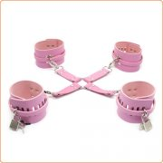 Locking Adjustable Wrist and Ankle Cuffs Set