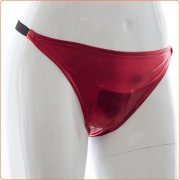 Patent Leather Sexy Panty With Love Egg Bag