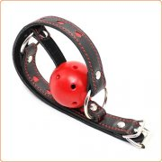Pin Buckle Breathable O Ring Heart Strap Ball Gag
