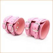 Pin Buckle Double Belt  Wrist & Ankle Restraints Cuffs