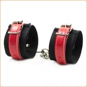 Pin Buckle Nylon Cuffs With Leather Belt
