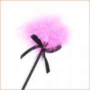 Pink Fancy Feather Tickler With Ribbon