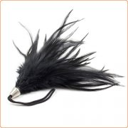 Pom Pom Feather Tickler With Metal Handle