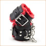 Red & Black Plush Wrist / Ankle Cuffs