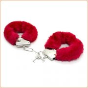 Red Lovers Metal Cuffs Restraint Kit - 5 Piece